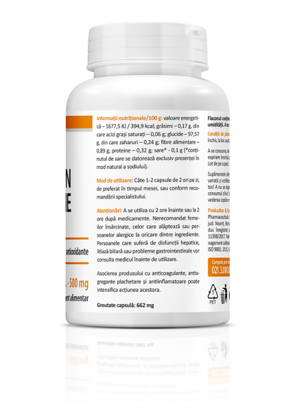 Supliment alimentar, Zenyth Curcumin & Piperine (500 mg) - 60 capsule [3]