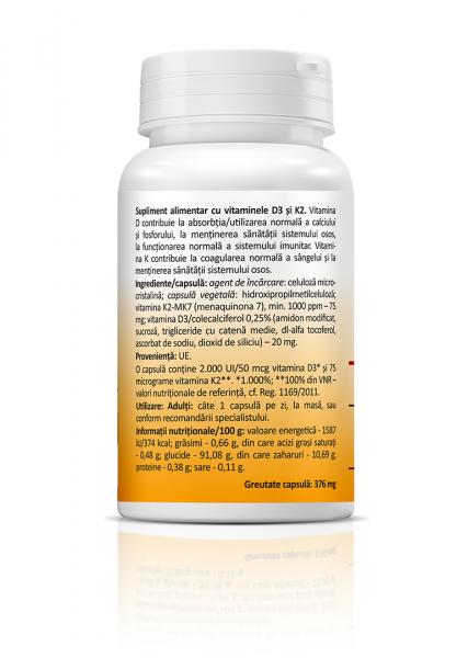 Supliment alimentar, Zenyth Vitamin D3 + K2 - 30 capsule [1]