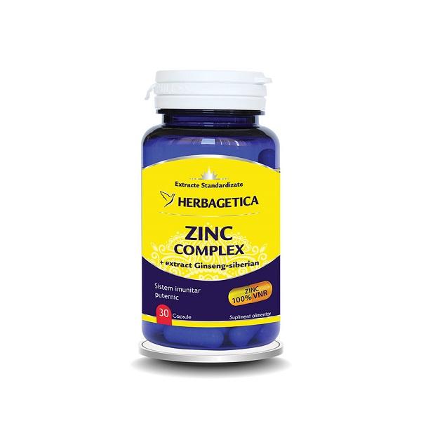 Supliment alimentar, Zinc Complex - 30 capsule [0]