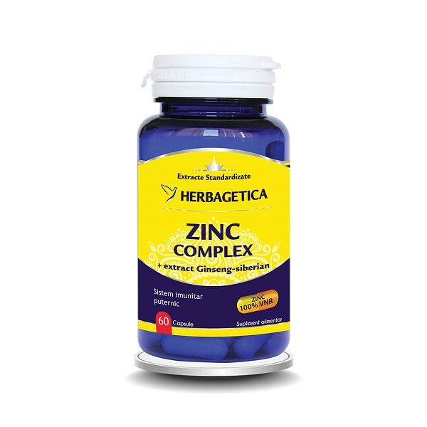 Supliment alimentar, Zinc Complex - 60 capsule [0]