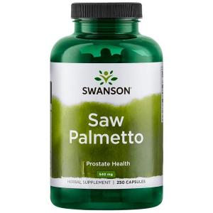 Supliment alimentar, Prostata si Confort Urinar, Extract de Palmier Pitic, Swanson Saw Palmetto - 250 capsule (250 doze) [0]