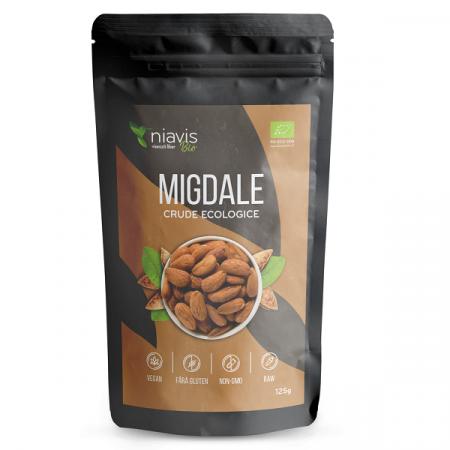 Migdale crude Ecologice/Bio - 125 g [1]