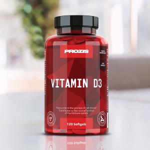Vitamina D3, Vitamin D3 800IU Prozis120 softgels [4]