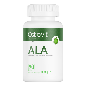Supliment alimentar, Acid Alfa-Lipoic (600 mg), OstroVit ALA 90 comprimate (90 doze) [0]