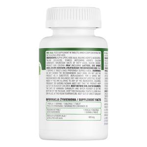 Supliment alimentar, Acid Alfa-Lipoic (600 mg), OstroVit ALA 90 comprimate (90 doze) [1]