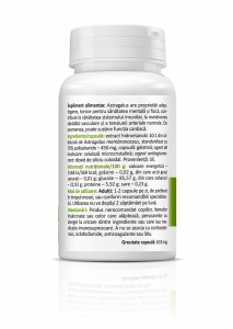 Supliment alimentar, Zenyth Astragalus (450 mg) - 30 capsule [2]