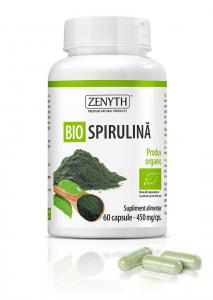 Supliment alimentar, Bio Spirulina (450 mg) - 60 capsule [0]