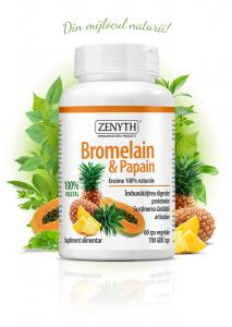 Supliment alimentar,  Bromelain & Papain (700 GDU) - 60 capsule [0]
