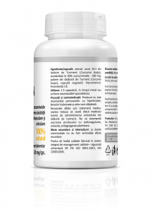 Supliment alimentar, Curcumin (550 mg) - 60 capsule [3]