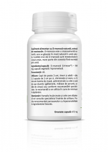 Supliment alimentar, D-Mannose -  30 capsule [1]