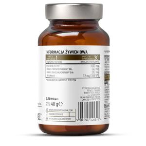 Supliment alimentar, OstroVit Pharma,  Elite Omega 3 (EPA 340 - mg, DHA - 230 mg) cu Vitamina E  - 30 capsule (30 doze) [1]