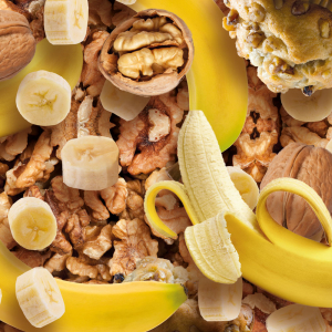 Fulgi de Ovaz Integral, 1250 g, (Banane - Miez de Nuca) [3]