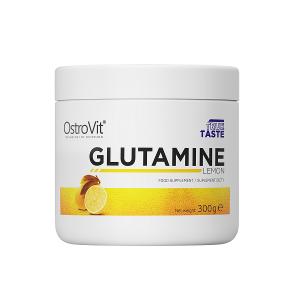 Supliment alimentar, L-Glutamina (5000 mg), OstroVit Supreme Pure Glutamine - 300 g (60 doze) - Lemon [0]
