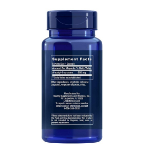 Supliment alimentar, N-Acetil-L-Cisteina (600 mg), Life Extension N-Acetyl-L-Cysteine - 60 capsule (60 doze) [1]