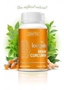 Supliment alimentar, Longvida® Brain Curcumin (500 mg) - 30 capsule [0]