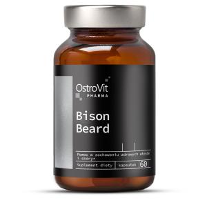 Complex pentru Cresterea Parului Facial, OstroVit Pharma Bison Beard - 60 capsule (30 doze) - Barbati [0]