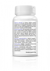 Supliment alimentar, Seleniu 200 mcg – 60 capsule [1]