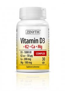 Vitamin D3 + K2 + Ca + Mg Complex - 30 capsule [0]