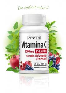 Vitamina C Premium cu rodie (1000 mg) - 30 cps [0]