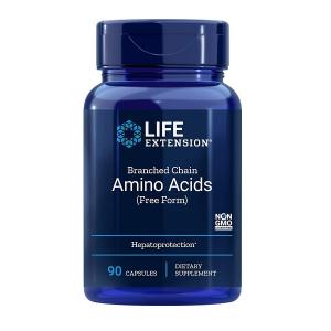 Aminoacizi cu Catena Ramificata BCAA, L-Valina, L-Leucina si L-Izoleucina, Life Extension Branched Chain Amino Acids - 90 capsule ( 22 doze) [0]