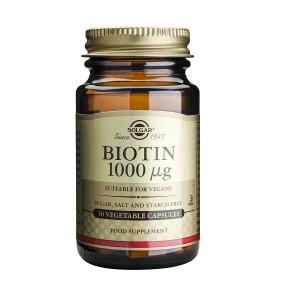 Supliment alimentar, Biotina, Solgar Biotin 1000 mcg - 50 capsule
