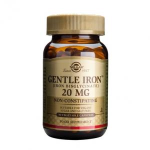 Supliment alimentar, Fier, Solgar Gentle Iron (20 mg) - 90 capsule
