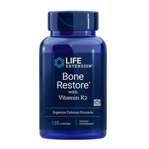 Complex pentru Oase si Articulatii, Life Extension Bone Restore with Vitamin K2 - 120 capsule (30 doze) [0]