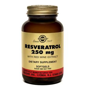 Supliment alimentar, Solgar Resveratrol 250 mg (cu extract de vin rosu) - 30 capsule