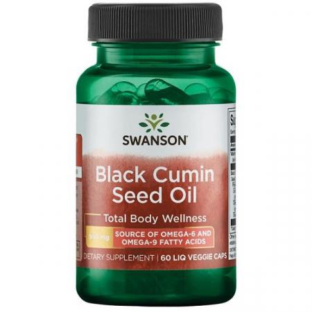Supliment alimentar, Ulei de Chimen Negru (500 mg), Swanson Black Cumin Seed Oil - 60 capsule (60 doze) [0]