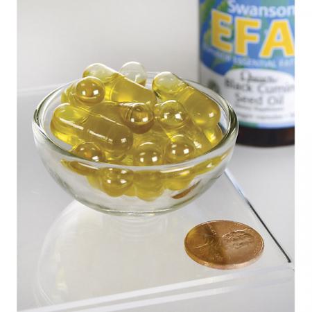 Supliment alimentar, Ulei de Chimen Negru (500 mg), Swanson Black Cumin Seed Oil - 60 capsule (60 doze) [2]