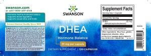Supliment alimentar, Dehidroepiandrosterona (25 mg), Swanson DHEA - 120 capsule (120 doze) [1]