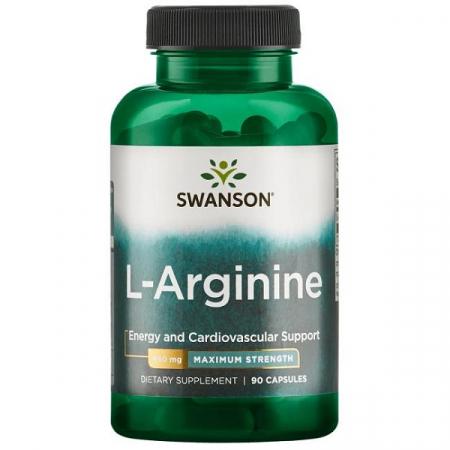 Supliment alimentar, L-arginina (850 mg) Swanson L-Arginine - 90 capsule (90 doze) [0]