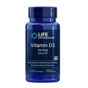 Supliment alimentar, Vitamina D3, Imunitate, Densitate Osoasa si Sistem Cardiovascular, Life Extension Vitamin D3 - 250 capsule (250 doze) [0]