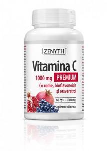 Complex pentru Imunitate, Zenyth Vitamina C Premium cu Rodie (1000 mg) - 60 capsule (60 doze) [0]