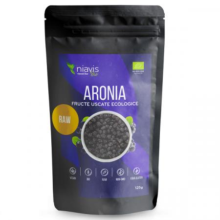 Aronia Fructe Uscate Raw Ecologice - 125 g [1]