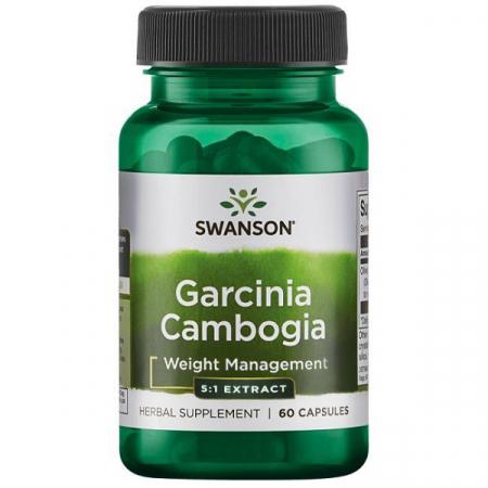 Supliment alimentar, Arzator de Grasimi si Slabit, Swanson Garcinia Cambogia 5:1- 60 capsule (60 doze) [0]