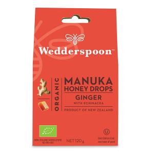 Supliment alimentar, Bomboane (Dropsuri) Ecologice cu Miere de Manuka, Ghimbir si Echinacea - 120 g [0]