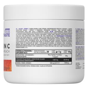 Supliment alimentar, Colagen (8869 mg) cu Vitamina C (500 mg), OstroVit Supreme Pure Collagen + Vitamin C - 200 g (20 doze) - Piersica [1]