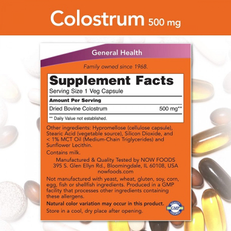 Supliment alimentar, Now Foods Colostrum (500 mg) - 120 capsule (120 doze) [1]