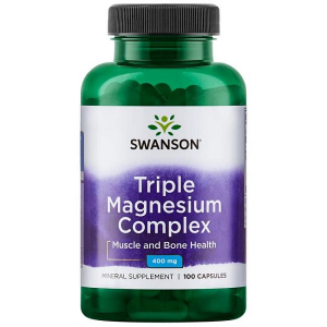 Supliment alimentar, Complex Triplu Magneziu (400 mg), Swanson Triple Magnesium Complex - 100 capsule (100 doze) [0]