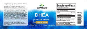 Supliment alimentar, Dehidroepiandrosterona (50 mg), Swanson Ultra DHEA - 120 capsule (120 doze) [1]