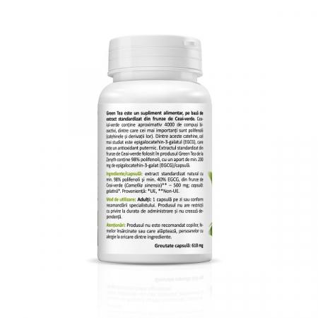 Supliment alimentar, Extract din frunze de Ceai Verde, Green Tea – EGCG Extract (200 mg) - 30 capsule [2]