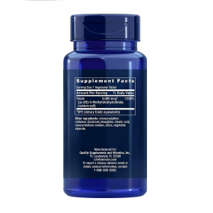 Supliment alimentar,  L-Metilfolat (5000 mcg), Life Extension High Potency Optimized Folate – 30 comprimate (30 doze) [1]