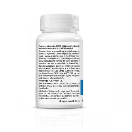 Supliment alimentar, L-Teanina, L-Theanine (100 mg) - 30 capsule [2]