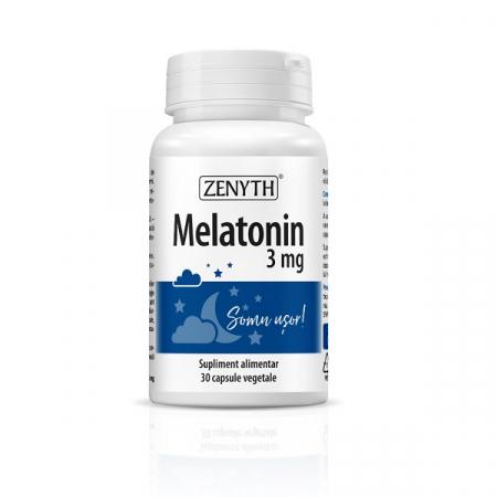 Supliment alimentar, Melatonina, Melatonin (3 mg) - 30 capsule [0]