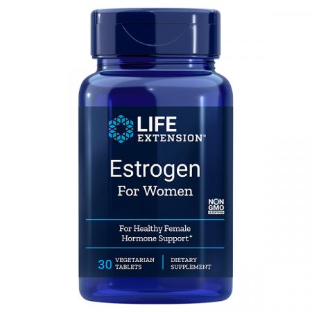 Supliment alimentar, Menopauza, Life Extension Estrogen for Women - 30 comprimate [0]