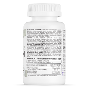 Supliment alimentar, OstroVit Vitamina D3 + K2 + Calciu - 90 comprimate (45 doze) [1]