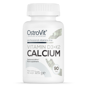 Supliment alimentar, OstroVit Vitamina D3 + K2 + Calciu - 90 comprimate (45 doze) [0]