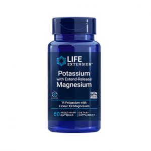 Supliment alimentar, Potasiu si Magneziu cu Eliberare Prelungita, Life Extension Potassium with Extend-Release Magnesium - 60 capsule (60 doze) [0]