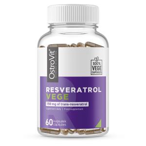 Supliment alimentar, Resveratrol (300 mg), 50% Trans-Resveratrol (150 mg), OstroVit Resveratrol Vege - 60 capsule (60 doze) [0]